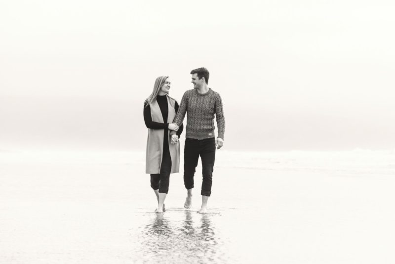 Pre-wedding shoot at the Welsh coast